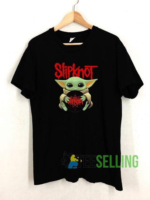 Baby Yoda Hug Slipknot T shirt Adult Unisex Size S-3XL