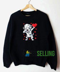 Dabbing Dalmatian Valentines Day Unisex Sweatshirt Unisex Adult