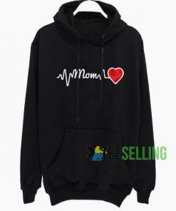 Mom Heartbeat Hoodie Adult Unisex