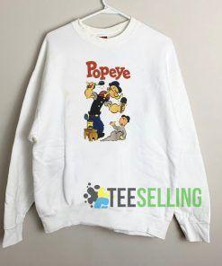 Popeye The Sailorman Unisex Sweatshirt Unisex Adult