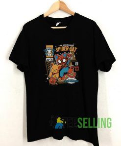 Spider Man The Cat T shirt Adult Unisex Size S-3XL