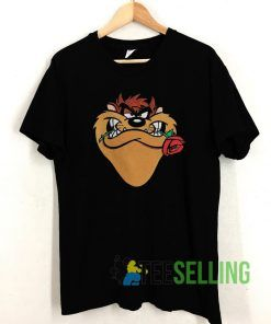 Taz Looney Tunes Rose T shirt Adult Unisex Size S-3XL