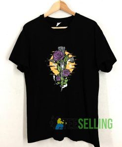 A Cross With Flower Ornaments T shirt Adult Unisex Size S-3XL