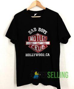 Bad Boys Motley Crue T shirt Adult Unisex Size S-3XL