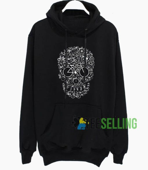 Bicycle Skull Graphic Hoodie Adult Unisex