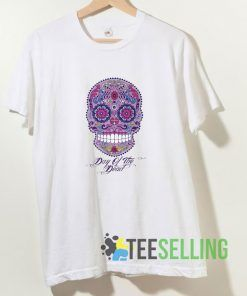 Cool Skull Day Of Dead T shirt Adult Unisex Size S-3XL