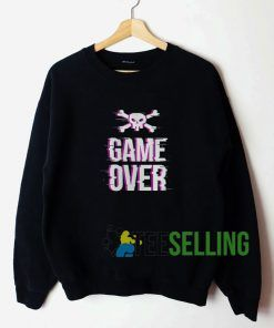 Game Over Skull Unisex Sweatshirt Unisex Adult