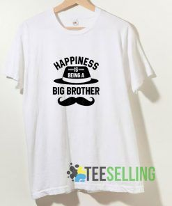 Happiness Is Being A Big Brother T shirt Adult Unisex Size S-3XL