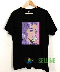 Ice Cream Comic Girl T shirt Adult Unisex Size S-3XL