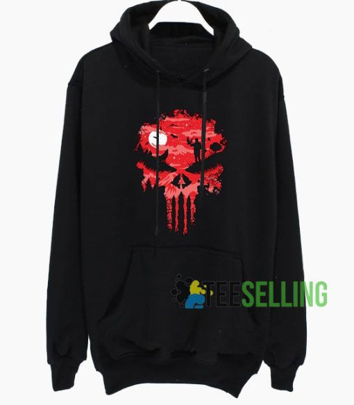 Red Night Skull Commercial Hoodie Adult Unisex