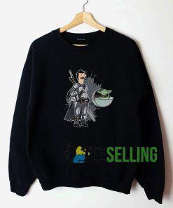 Style Pop Baby Yoda Graphic Unisex Sweatshirt Unisex Adult