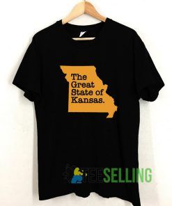 The Great State Of Kansas T shirt Adult Unisex Size S-3XL