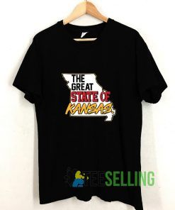 The Great State Of Kansas American Football T shirt Adult Unisex Size S-3XL