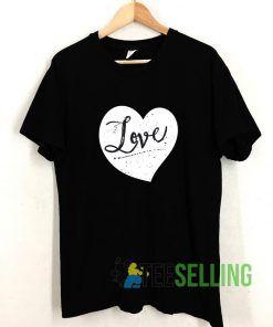White Heart Love T shirt Adult Unisex Size S-3XL