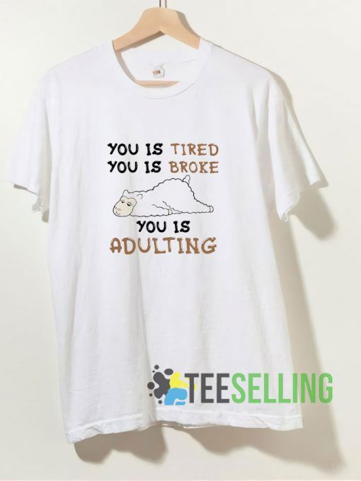 You Is Tired You Is Broke You Is Adulting T shirt Adult Unisex Size S-3XL