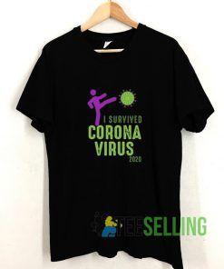 2020 I Survived Coronavirus T shirt Adult Unisex Size S-3XL
