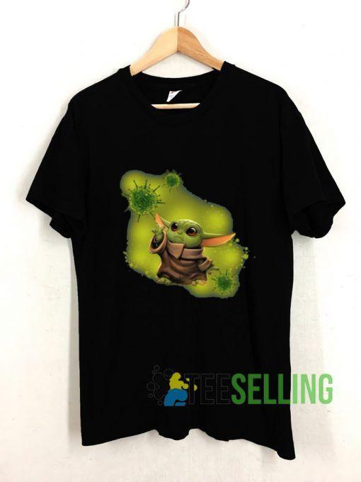 Baby Yoda mashup Corona Virus T shirt Adult Unisex Size S-3XL