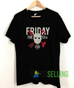 Friday The 13th Day of Fear Horror T shirt Adult Unisex Size S-3XL
