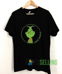 Grinch I Hate People T shirt Adult Unisex Size S-3XL