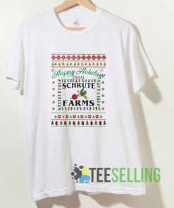 Happy Holidays From Schrute Farms T shirt Adult Unisex Size S-3XL