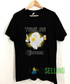 Trick Or Corona Ghost Halloween T shirt Adult Unisex Size S-3XL