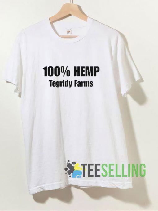 100% Hemp Tegridy Farms T shirt Adult Unisex Size S-3XL