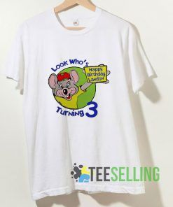 Chuck E Cheese Birthday T shirt Adult Unisex Size S-3XL