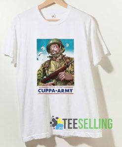 Cuppa Army T shirt Adult Unisex Size S-3XL
