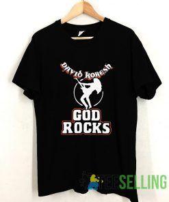 David Koresh God Rocks T shirt Adult Unisex Size S-3XL