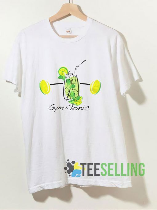 Gym And Tonic Drink T shirt Adult Unisex Size S 3XL