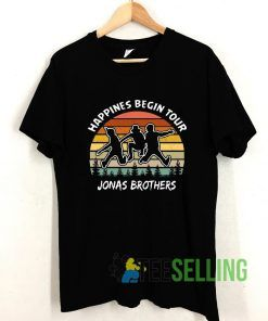 Happines Begin Tour Jonas Brothers Vintage T shirt Adult Unisex Size S-3XL