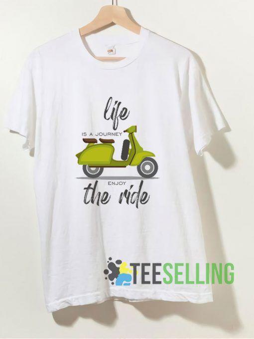 Vespa Journey T shirt Adult Unisex Size S-3XL
