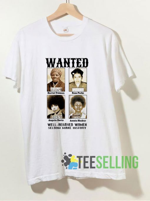 Wanted Angela Davis T shirt Adult Unisex Size S-3XL