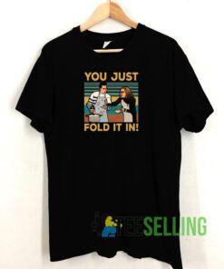 You Just Fold It Retro Tshirt